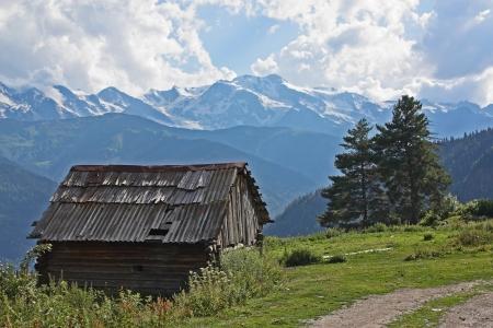 svan: Mountain landscape in Svaneti, Georgia