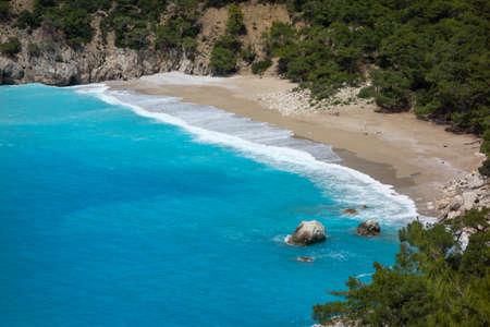 Mediterranean beach in Turkey Stock Photo