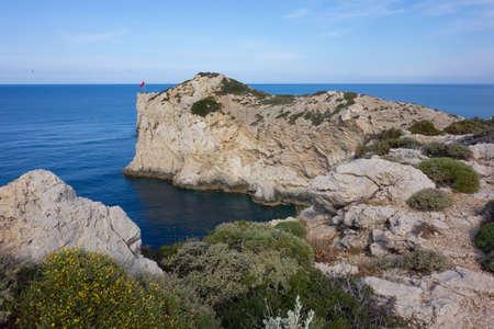 Mediterranean seascape near Patara in Turkey