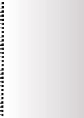 carta quaderno bianco realistico con spirale. pagina di diario chiaro. Illustrazione vettoriale.