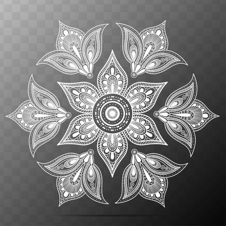 Flower Mandala. Oriental Pattern Vector Illustration. Vintage decorative elements. Islam, Arabic, Indian, Turkish and Ottoman Motifs