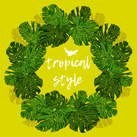 Tropical Style Vector. Tropical Palm Leaves for design elements. Illustration