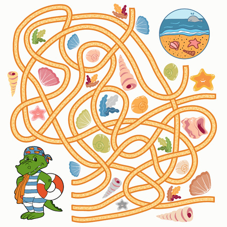 brainteaser: Maze game (crocodile)