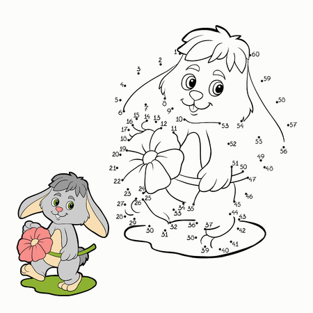 Numbers Game (rabbit) Ilustracja