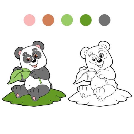 coloration: Coloring book (panda)