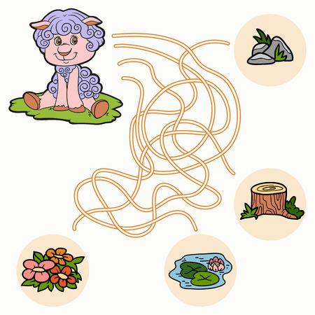 Maze game (sheep) Vector