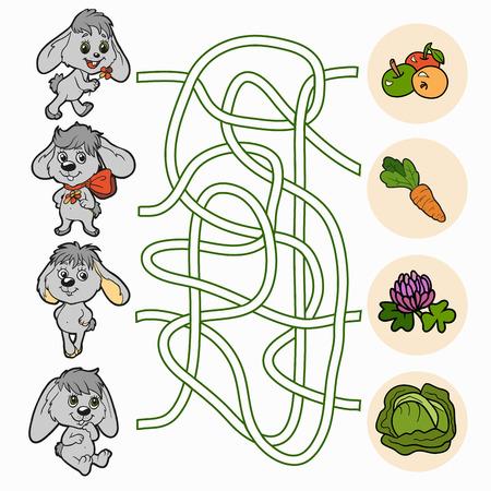 Maze game (rabbits) Vector