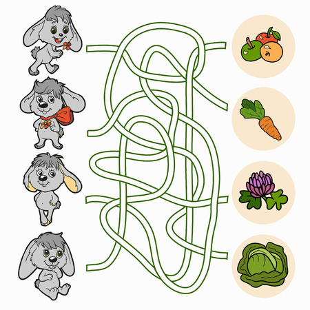 Maze game (rabbits) Vector