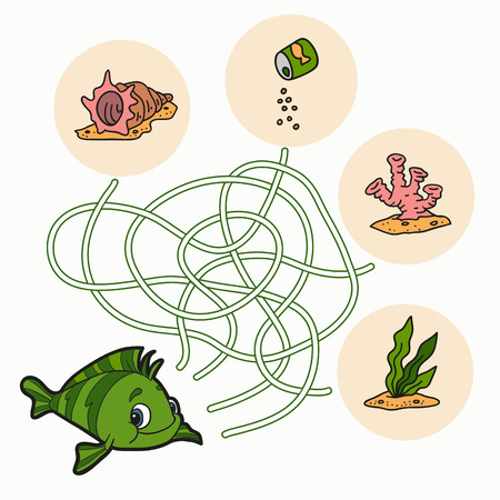 Maze game (fish) Vector