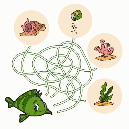 Maze game (fish) Vector