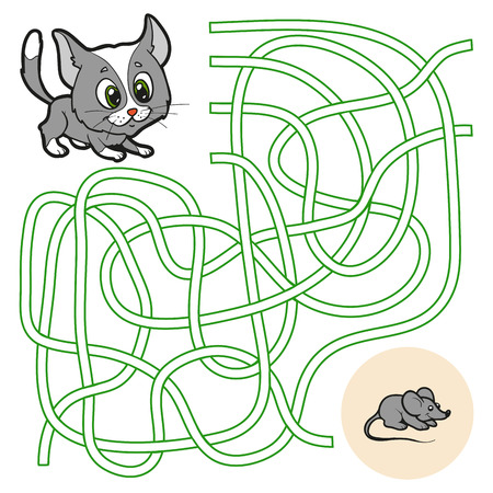 Maze game (cat and mouse) Vector