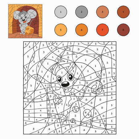Color by number (mouse) Vector