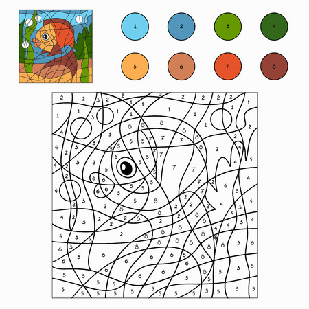 number of animals: Color by numbers (fish)