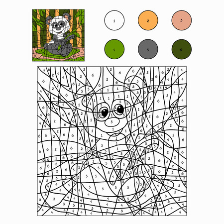 Color by number (panda)