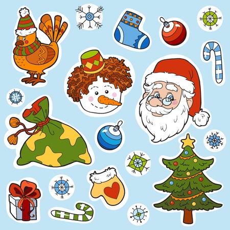 Christmas set of vector elements Vector
