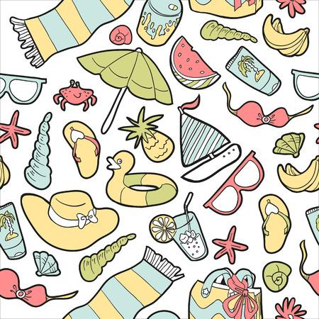 watermelon boat: Summer seamless pattern
