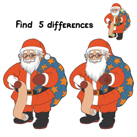 Find 5 differences (Santa Claus)