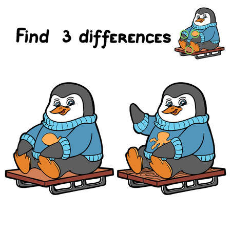 find solution: Find 3 differences (penguin)