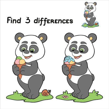 guess: Find 3 differences (panda)