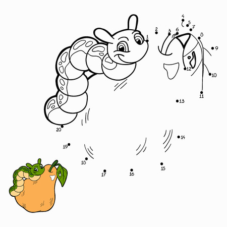 Numbers game (caterpillar and pear) Vector