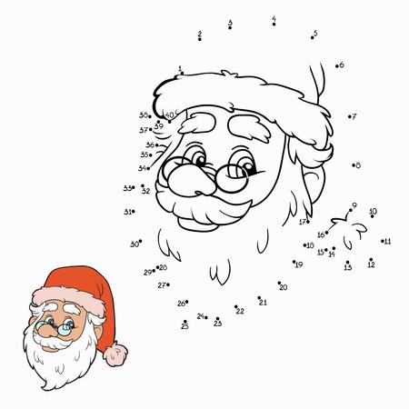 Numbers game (Santa Claus) Vector