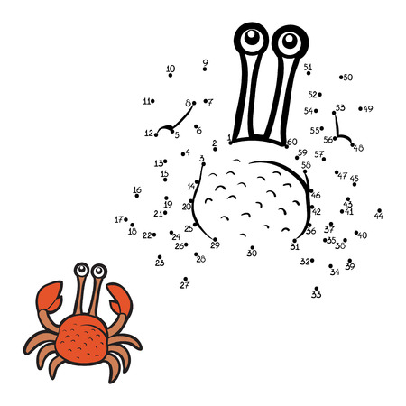 Numbers game (crab) Vector