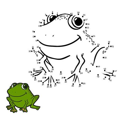 cartoon frog: Numbers game (frog)