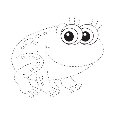 Connect the dots (frog) Vector