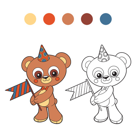 colorless: Coloring book (bear)