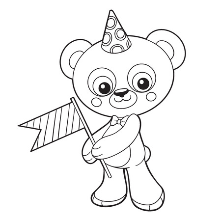 coloration: Coloring book (bear)