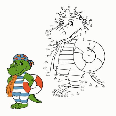 libro caricatura: Números del partido (de cocodrilo) Vectores