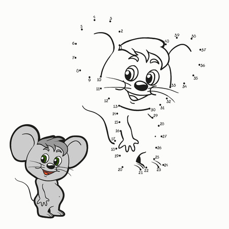 Numbers game (mouse) Illustration
