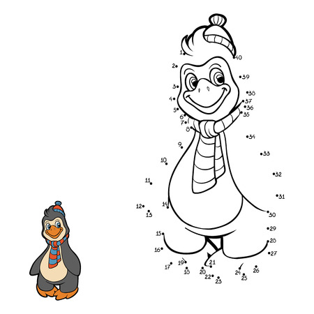Numbers game (penguin) Vector