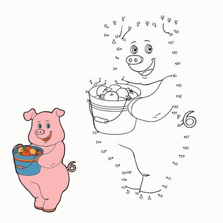 rotund: Numbers game (pig) Illustration