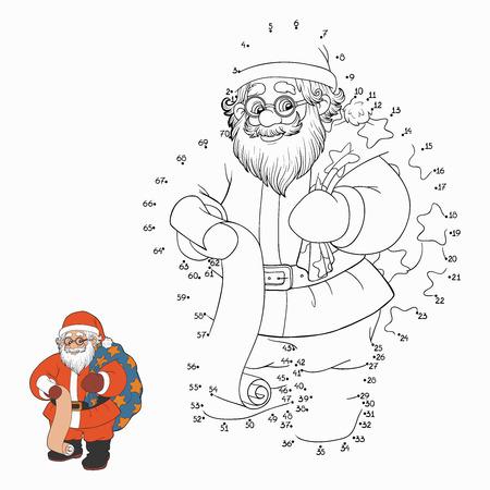 Numbers game (Santa Claus) Ilustracja