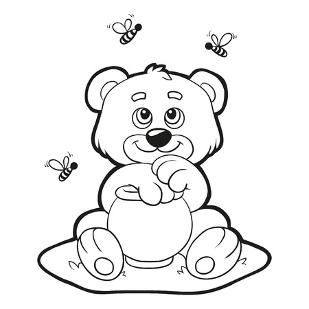 Coloring book (bear)