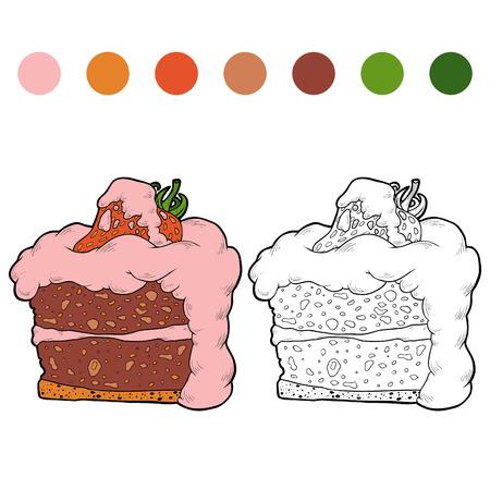 Libro Para Colorear Para Niños: Frutas Y Verduras (fresa ...