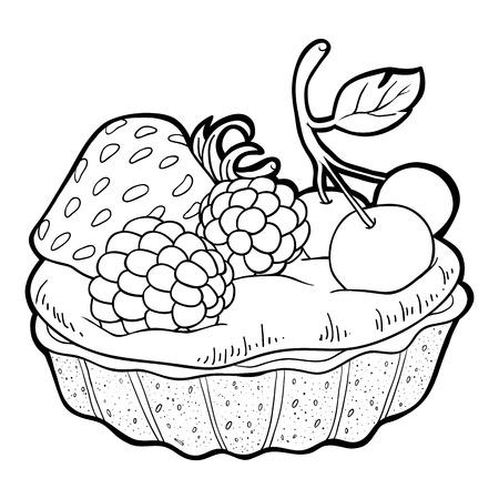 tart: Coloring book (cake)