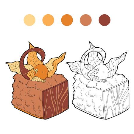brownie: Coloring book (cake)
