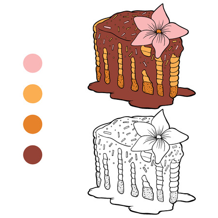 chocolate brownie: Coloring book (cake)