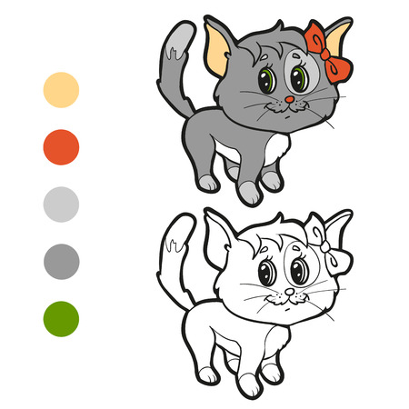 tiger page: Coloring book (cat) Illustration