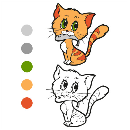 coloration: Coloring book (cat) Illustration