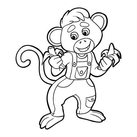black boys: Coloring book (monkey)