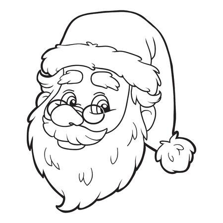 dibujos para colorear: Libro para colorear (Santa Claus)