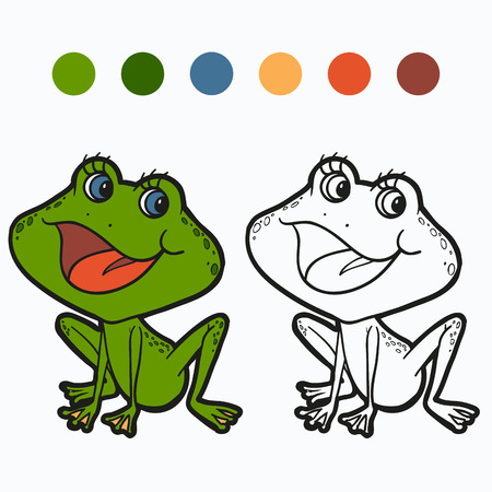 rana: Coloring book (frog)