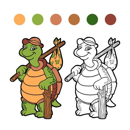 bundle: Coloring book (turtle) Illustration