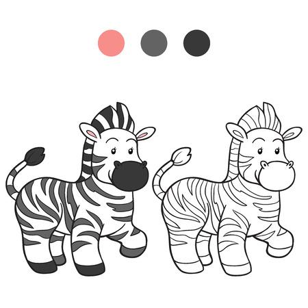 cebra: Libro para colorear (cebra)