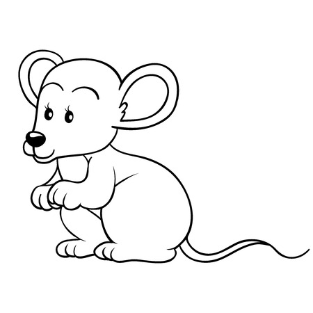 cute mouse: Coloring book (mouse)