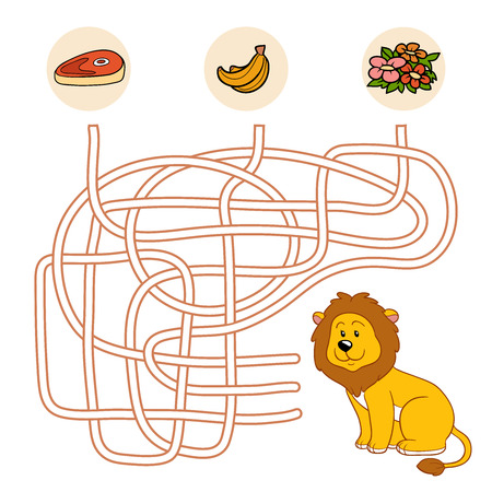 game meat: Maze game (lion)
