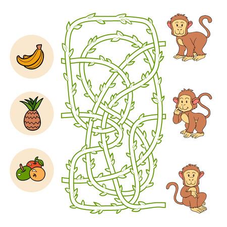Maze game (monkey) Vector